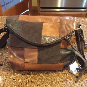 The Sak Leather/Suede Patchwork shoulder bag